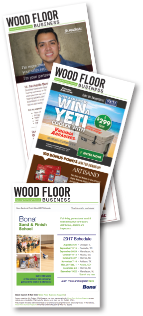 Wood Floor Business Custom E-Mail Examples