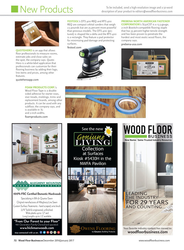 Wood Floor Business New Products