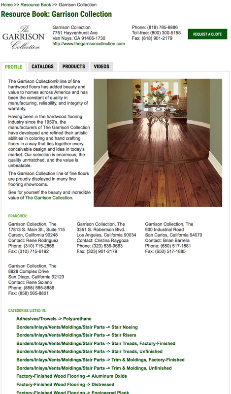 Wood Floor Business Online Resource Book Microsite